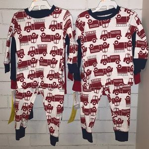 Twin Boys Fire Truck Pajamas NEW 4 sets Size 12M